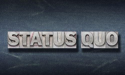 Wat als de Status Quo krachtiger is dan de Verandering?